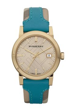 Turquoise goes with so many things and so does Burberry... So Cute I want it!!