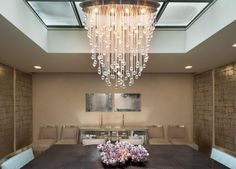 Porch   Large Chandelier Dining Room from LMA Group Inc. Modern Dining Room Tables, Large Chandeliers, Home Furnishings, Townhouse, Porch, Indoor, Ceiling Lights, Spaces, Group