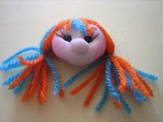 broche muñeca soft naranja y azul