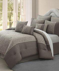 Look what I found on #zulily! Jade Blossom Nine-Piece Comforter Set by Chic Home Design #zulilyfinds