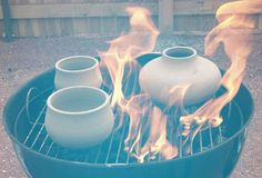 How to Pit Fire Pottery Using a Charcoal Grill... a new way to raku!