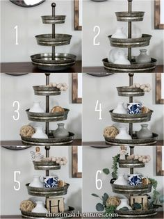 How to style a tiered tray Step by step tutorial for how to style a tiered tray Hobby Lobby The post How to style a tiered tray & DIY Crafts appeared first on Farmhouse decor .