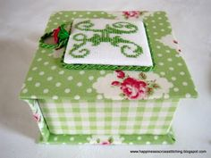 ! Lynn B 's finishing instructions for cross stitch !: How to make a covered box - Part One