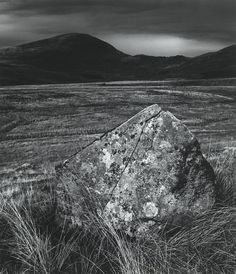 Standing Stone on Prenteg road Photography Rules, Landscape Photography, White Photography, Landscape Paintings, Landscapes, Sense Of Place, Film Stills, Natural History, Art History