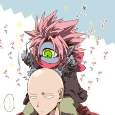 One Punch Man - Saitama & little Boros