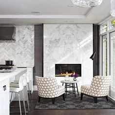 Spaces Modern Fireplace Design, Pictures, Remodel, Decor and Ideas - page 15