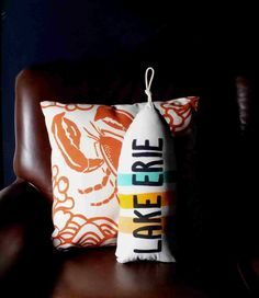 Maine Lobster Buoy Pillow Any color you want. by CobaltSkyStudio, $33.00