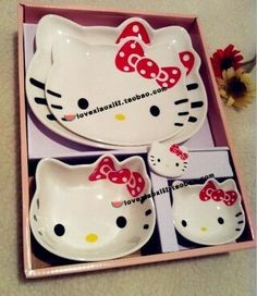 Hello kitty plate set                                                       …