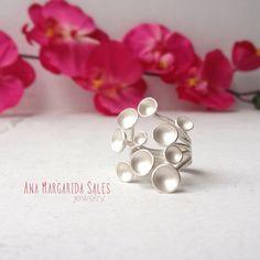 Mushrooms Sterling Silver Ring