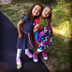 First day of pre-school for these little ladies! #themoments