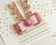 Pink glitter bow, ro