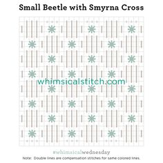Small Beetle with Smyrna Cross from November 1, 2017 whimsicalstitch.com/whimsicalwednesdays blog post.