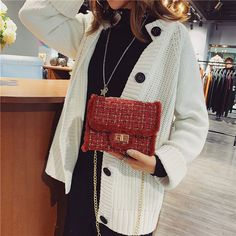 Purchase Women Plush Wool Bag Tide Chain Single Shoulder Slanting Small Square Bag bag 2792 from Yuanzala on OpenSky. Danish Fashion, Cover Style, Best Purses, Popular Handbags, Vintage Style Dresses, Cute Bags, Japan Fashion, Casual Bags, Crossbody Shoulder Bag