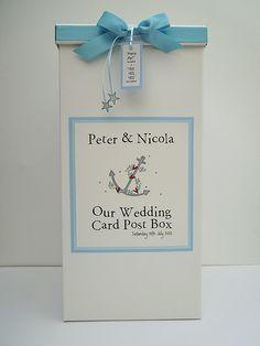 A is for Anchor - Wedding Card Post Box £25