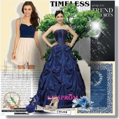 """blue prom dress"" by emmayuanyuan on Polyvore http://www.kissprom.co.uk"