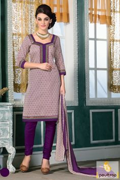 Add desi touch to your look by wearing this violate beige color art chanderi silk casual salwar suit online shopping at cheapest price in India. Buy online violate color printed salwar kameez with discount offer price. #salwarkameez, #salwarsuit, #chanderisalwarkameez, #casualsalwarlameez, #printedsalwarkameez,#churidarsalwarkameez, #discountoffer, #pavitraafashion, #utsavfashion, #straightsalwarsuit, #silksalwarsuit,  http://www.pavitraa.in/store/casual-dress/ callus:+91-7698234040