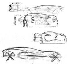 Renault Dezir initial sketches by Jan Jarsalle