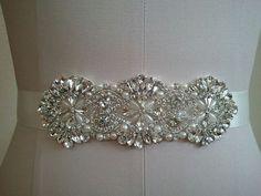 Wedding Belt, Bridal Belt, Sash Belt, Crystal Rhinestone & Pearls - Style B30079 on Etsy, $52.46 AUD
