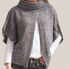 Hand Knit Poncho Cardigan Jacket Custom orders Accepted. $180.00, via Etsy.