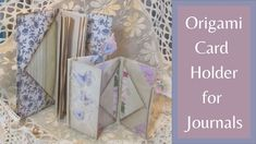 Origami Card Holder for Journals - YouTube Origami Wallet, Origami Cards, Book Journal, Journals, Journal Ideas, Notebooks, Pop Up, Oragami, Baby Album