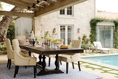 Dinner is always more fun with friends. See more inspirational dining rooms. #LivingSpaces