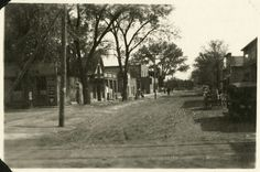A peak down a quiet street in Espanola, NM in 1919. Palace of the Governors Photo Archives.  #espanola #espanolanm #espanolanewmexico #newmexico #oldnewmexico