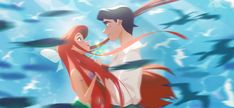 Discover the finest artists working today in animation, illustration and comics. Ariel Disney, Film Disney, Disney Princess Art, Disney Little Mermaids, Disney Couples, Cute Disney, The Little Mermaid, Disney Concept Art, Disney Fan Art