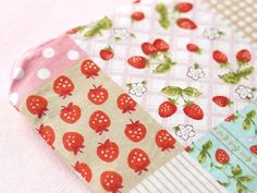 Sweet Strawberry Mini Zipper Pouch.