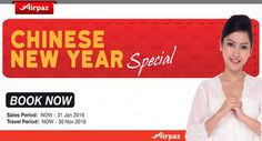 Celebrate family reunion with more prosperous deals from Malindo Air Special Chinese New Year Promotion on www.airpaz.com More info : http://ow.ly/XwQHB  #CheapFlights #Travel #ChineseNewYear #Promotion #BookNow #MalindoAir #Airpaz #Promo #Traveling #Backpacker #Backpacking #PromoFlights #Holiday #Vacation #Trip #Asia #Malaysia