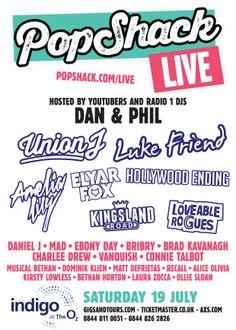 Popshack Live 2014 - Indigo O2 - Saturday 19th July http://www.gigsandtours.com/tour/popshack-live