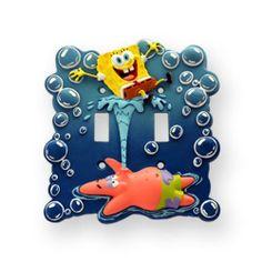 Nickelodeon Sponge Bob Double Switch Cover