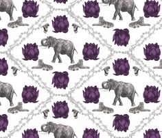 A Tale of Two Tigers fabric by deborahballingerillustrations on Spoonflower - custom fabric