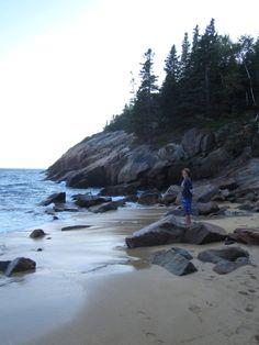 Maine Coast:  Sand Beach, Acadia National Park, Maine.