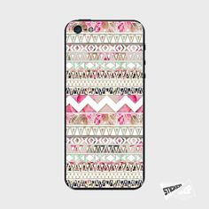 iPhone 5 Cover Geometric Aztec Flowers