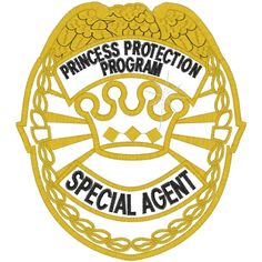 Police (A12) Princess Protection Applique 5x7 - for the boys