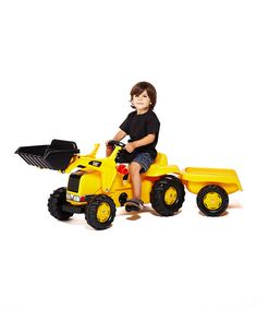 Another great find on #zulily! Kid Tractor & Trailer by CAT #zulilyfinds