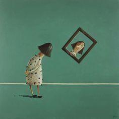 Pinzellades al món: Mirant la pintura / Mirando la pintura / Looking painting Art And Illustration, Illustrations And Posters, Character Illustration, Mirror Art, Whimsical Art, Art Plastique, New Art, Concept Art, Art Drawings
