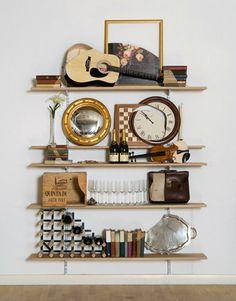 Skull Bookshelves - Imaginatively arranged shelves