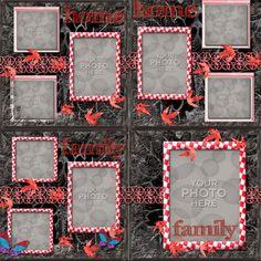 Digital Scrapbooking Kits | Catz Casa Rouge Template-(CatDes) | Decorative, Everyday, Family | MyMemories