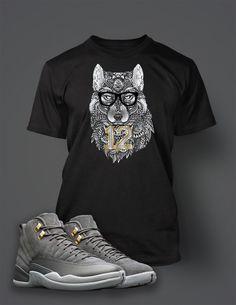 f653876ac140 T Shirt To Match Retro Air Jordan 12 Cool Grey Shoe Custom Mens Tee Design  Sizing. Vegas Big and Tall