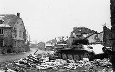 A Panther Ausf G knocked out at La Gleize, Belgium during heavy fighting with American forces