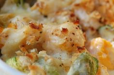 Cauliflower and Brussels Sprout Gratin Adapted from Ina Garten from Barefoot In Paris