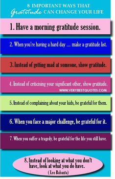 Practicing gratitude will change your life!
