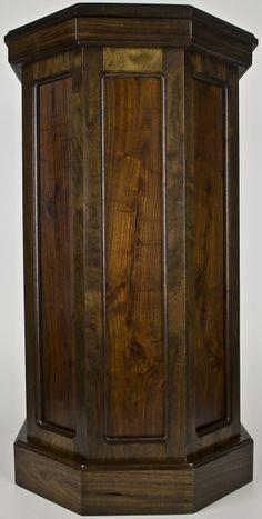Wooden Floor Pedestals Classic Series Aromatic Cedar Floor Pedestal Deer Decor Taxidermy