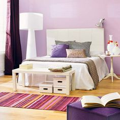 White and Purple Bedroom Ideas | ... different combinations you can use and one of them is white and purple