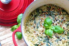 kerst diner spinazie risotto met pesto