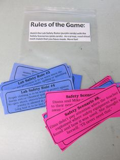 A Middle School Survival Guide: Lab Safety-includes Lab Safety Rap and various links High School Biology, Elementary Science, Middle School Science, Science Classroom, Teaching Science, Science Education, Physical Science, Ap Biology, Classroom Ideas
