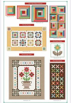 Prim & Proper by Lori Holt of a Bee in my Bonnet for It's Sew Emma travels back to a gentler era. From a time when handwork made a home, Lori pulls beloved elements from vintage medallion applique and cross stitch to create an exquisite sampler quilt. The quilt features an elaborate vintage vase holding a sweet floral arrangement, surrounded by a colorful array of cross-stitches honoring a sister art. In addition to the sampler quilt, the book also includes three coordinating runners and two Cross Stitches, Cross Stitch Embroidery, Cross Stitch Patterns, House Blessing, Bee In My Bonnet, Sisters Art, Vintage Vases, Runners, Floral Arrangements