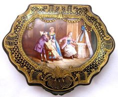 Unusual Scalloped Shaped Sevres Porcelain Casket    In Stock • $1450    Ruby Lane