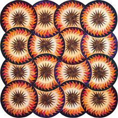 Autumn Splendor ~ Full Quilt ~ Quiltworx.com, made by Linda Tellesbo